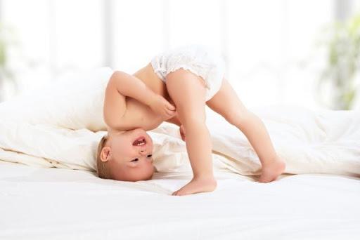 Tã giấy chống tràn giúp trẻ thoải mái hoạt động